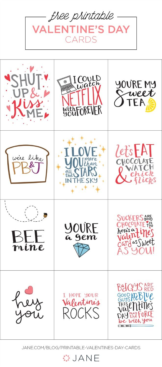 Printable Valentines Day Cards  Printable Anniversary Cards For Him