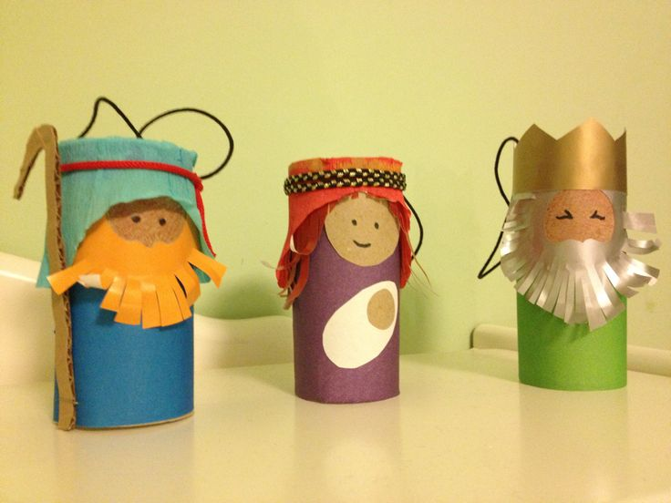 Explore and Express: Christmas Art: Toilet Paper Roll Nativity Figures great for Preschool