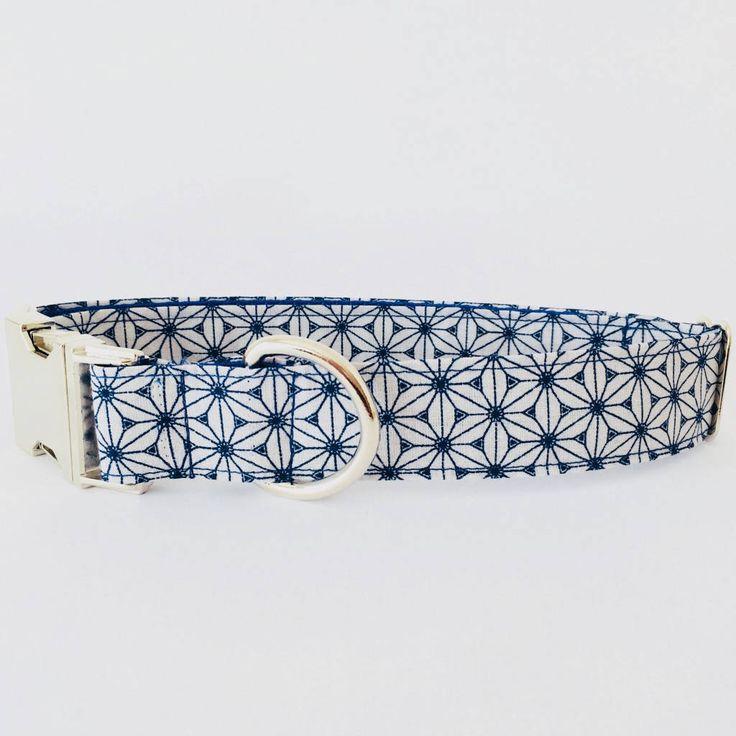 Collar perro Japan azul y gris (Metal o Plástico), Collar Hebilla de clic, Collares perro, Correa perro - 4GUAUS.COM de 4GUAUS en Etsy