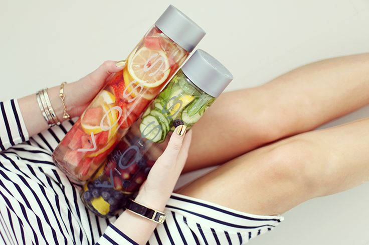 krist.in fruit voss water healthy inspo