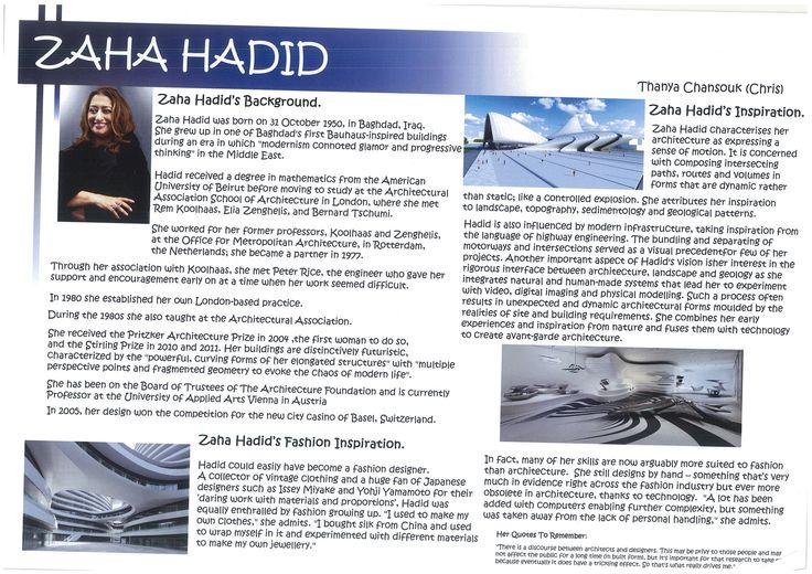 Zaha Hadid Research Page