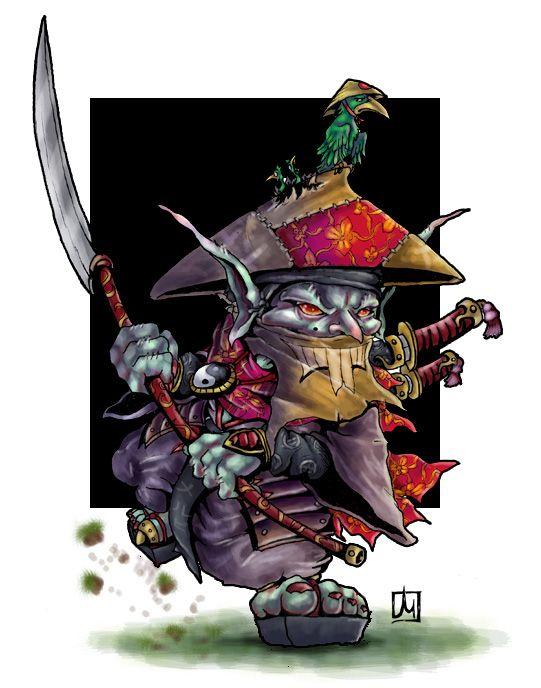 Pathfinder Hobgoblin Monk Sohei goblin monk by m...