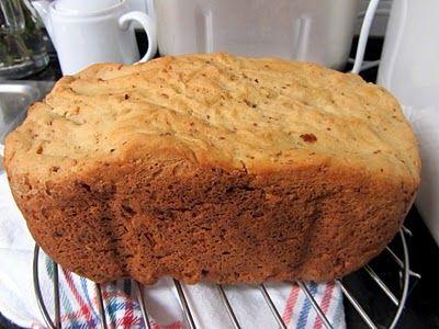 Pan con maiz pasas y nueces de la panificadora