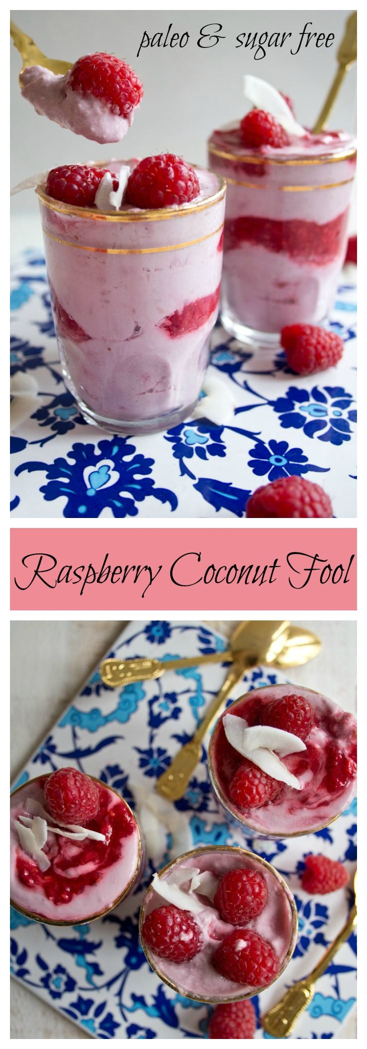 Sweet, tangy and irresistibly delicious. This sugar free and vegan raspberry coconut fool will tantalise your tastebuds.