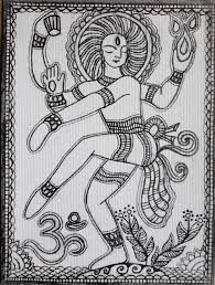madhubani art - design for my handmade greetingcards..