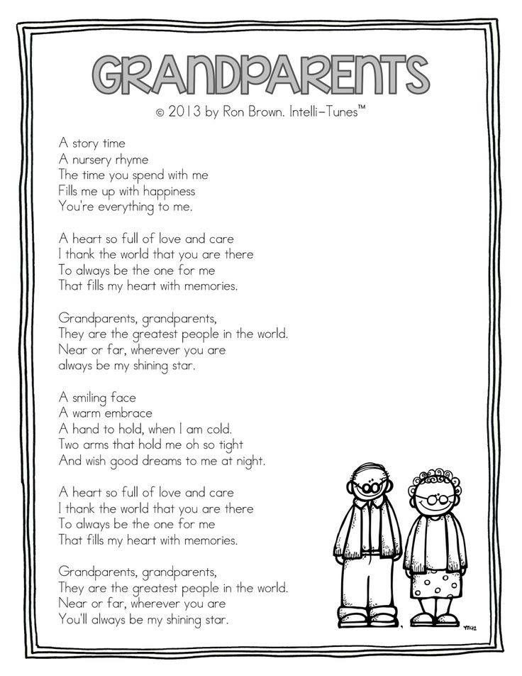 Pin By Judy Feuz Cain On Good Words Sayings And Quotes Grandparents Day Poem Grandparents Day Activities Grandparents Day Songs