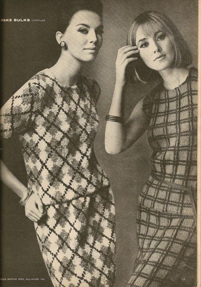 1963 vogue knitwear