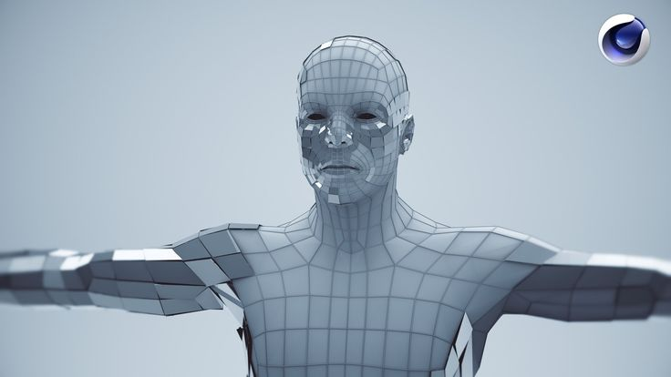 Tutoriel Cinema 4D | Modelisation d'un humanoide / cyborg polygonal | Fr...