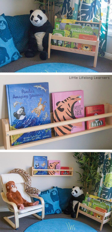 Ikea Reading Corner For Toddlers Preschoolers And Kindergarten Children Djungelskog Endangered Ani Reading Corner Kids Toddler Bookshelves Ikea Toddler Room