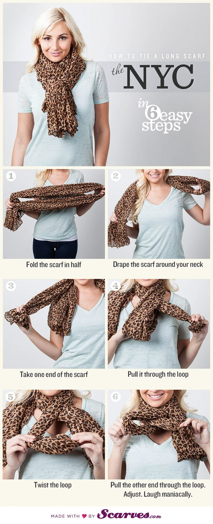 Good to know. How To tie a scarf
