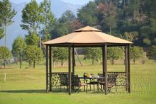 Dia 4 meter 8-edge shape garden patio gazebo tent aluminum outdoor sun shade pavilion furniture house canopy for party(China)