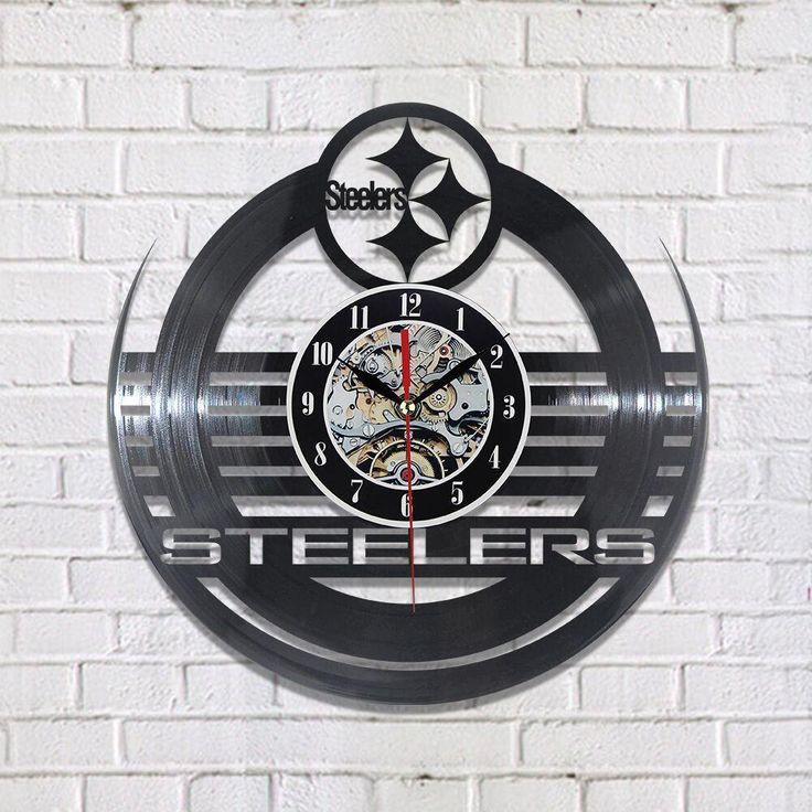 Pittsburgh Steelers Nation NFL Vinyl Record Clock
