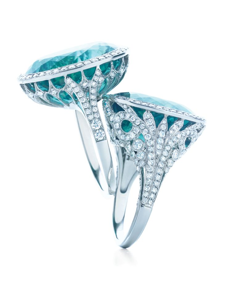 Jewellery: Tiffany & Co. | The Blue Book Collection 2013 - GF Luxury: Books Collection, Tiffany Blue, Blue Diamonds, Diamonds Rings, Jewelry, Blue Books, Tiffany Rings, Tourmaline Ring, Engagement Rings