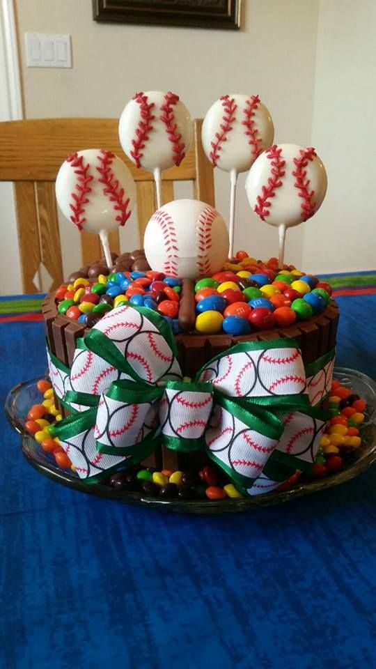Baseball Kit kat birthday cake