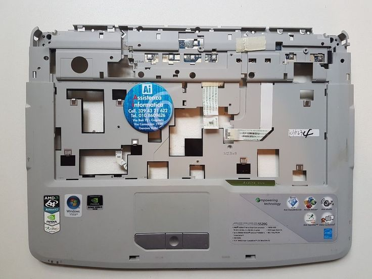 CHASSIS ANTERIORE COMPLETO DI PAD MOUSE X ACER ASPIRE 5520/5520G