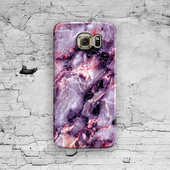 Purple Marble Samsung Galaxy S7 Case Galaxy S6 by ByKustomKase