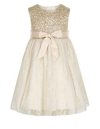 Baby Cici Lola Dress | Gold | Monsoon