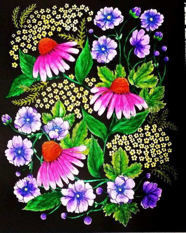 Maria Trolle Adultcoloringbook Adultcolouring Flowers Mandala ColoringAdult ColoringColoring BooksDrawing