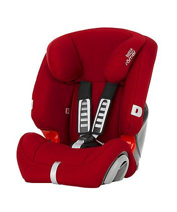 Britax Romer Evolva 1-2-3 High Back Booster Car Seat with Harness - Flame Red