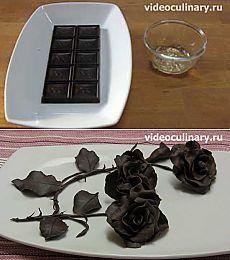 Шоколадные розы - Видеокулинария.рф - видео-рецепты Бабушки Эммы