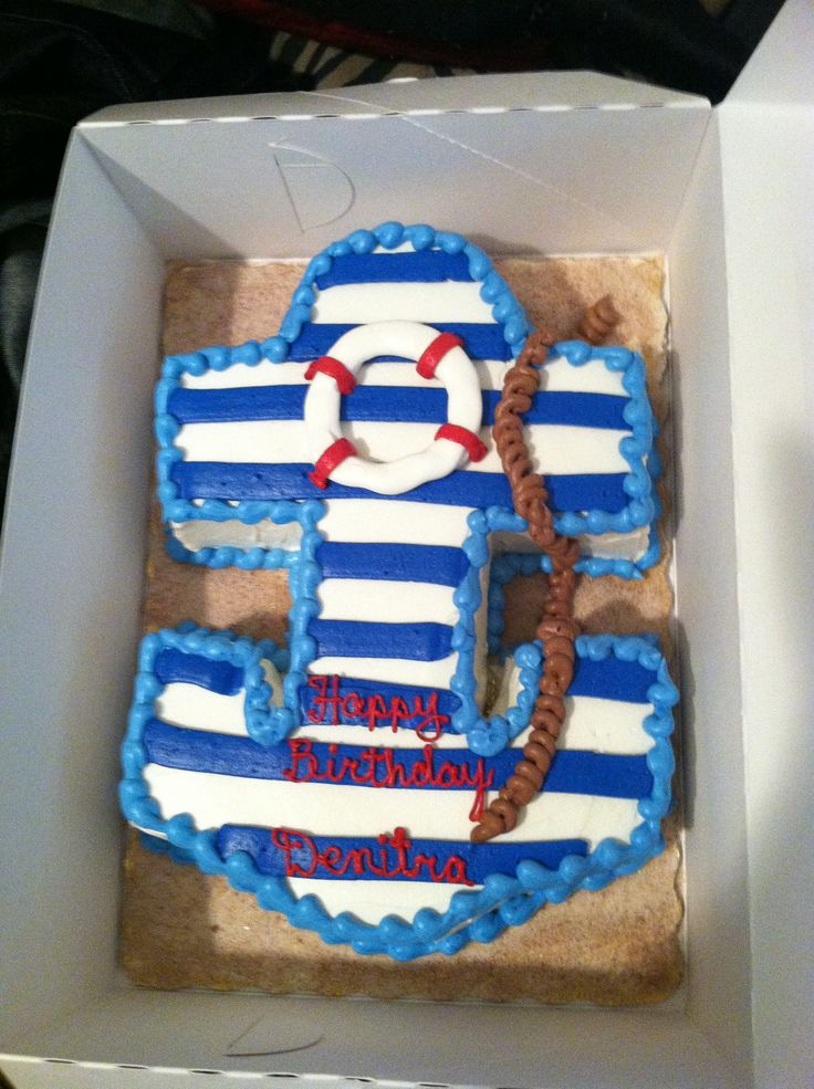 Best 25 Nautical Birthday Cakes Ideas On Pinterest