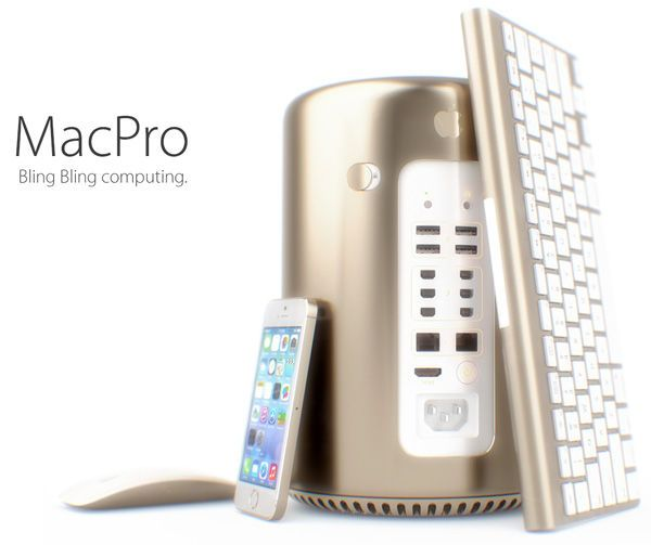 Golden Desktop Gadgets - MacPro Bling Bling Further Increases the High Status of Your Apple Machine