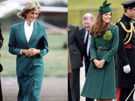 Кейт Мидлтон и Принцесса Диана: 15 одинаковых нарядов