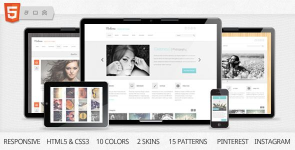 Moderna is responsive and clean HTML template which is suited for both professional business sites and creative personal portfolio. Moderna comes with two skins – boxed and stretched of which every has ten color styles. Boxed version comes with 15 patterns, to give you countless options in organizing and managing your contents. These and some other basic features of Moderna are listed below:
