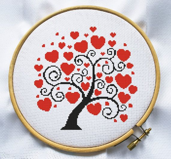 Love tree cross stitch pattern Counted cross by MagicCrossStitch