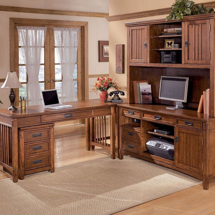 That Furniture Outlet - Minnesota's #1 Furniture Outlet. We have exceptionally low everyday prices in a very relaxed shopping atmosphere. Ashley Cross Island - Home Office Large Leg Desk File Cabinet Corner Table Credenza with Tall Hutch thatfurnitureoutlet.com #thatfurnitureoutlet  #thatfurniture  High Quality. Terrific Selection. Exceptional Prices.