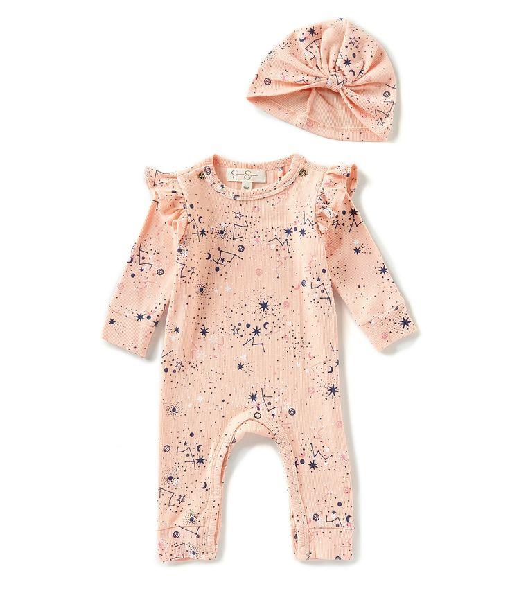 jessica simpson baby girls newborn9 months ruffle footie