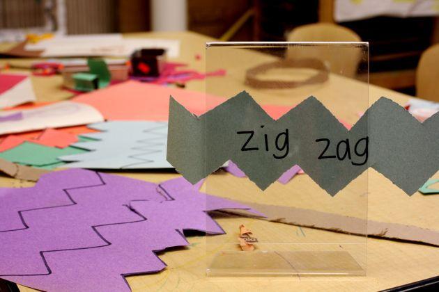 zig zag cutting by kristin :: prairie daze, via Flickr