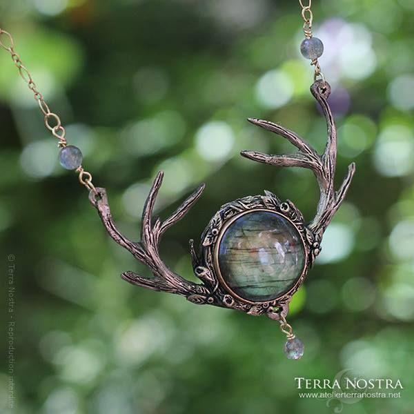 antler & labradorite necklace <3                                                                                                                                                                                 More