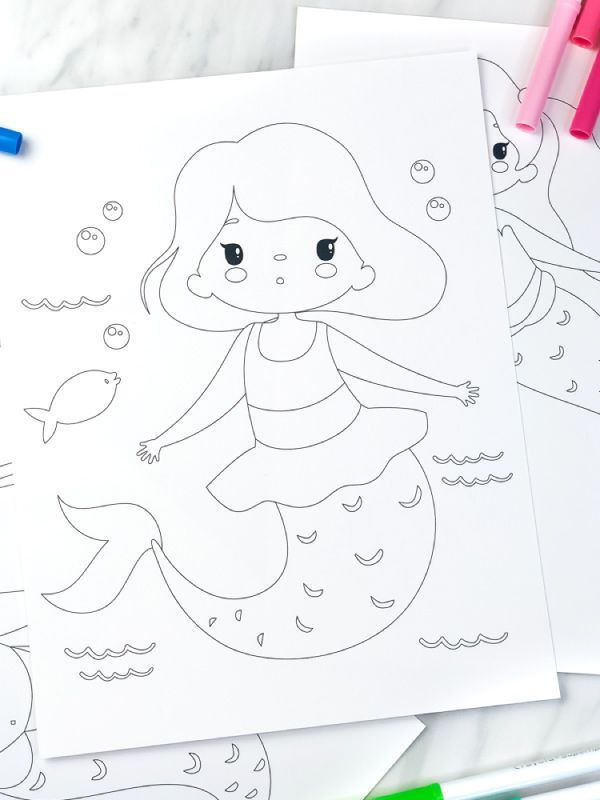 Printable Mermaid Coloring Pages For Kids Mermaid Coloring Pages