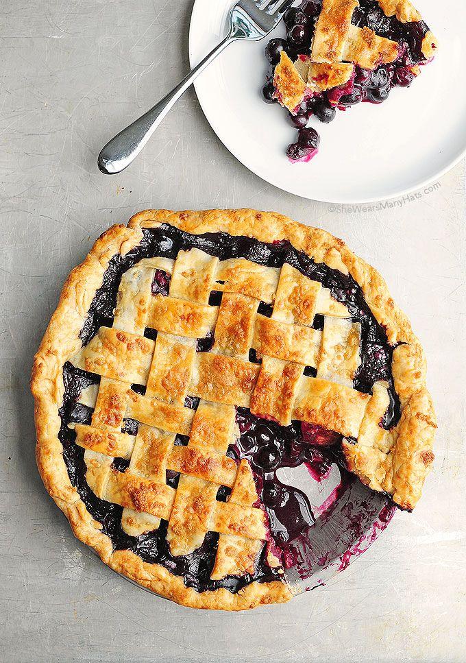 Homemade Blueberry Pie Recipe #pie