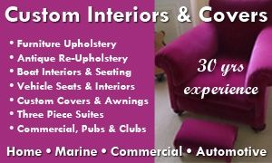 Custom Interiors Covers and Upholstery of Ivybridge - Car and Vehicle Interiors and Seating, Boat Seating, Interiors and Covers, show and commercial canopies and covers. #southdevonupholstery #customcovers in #ivybridge and throughout the #southhams