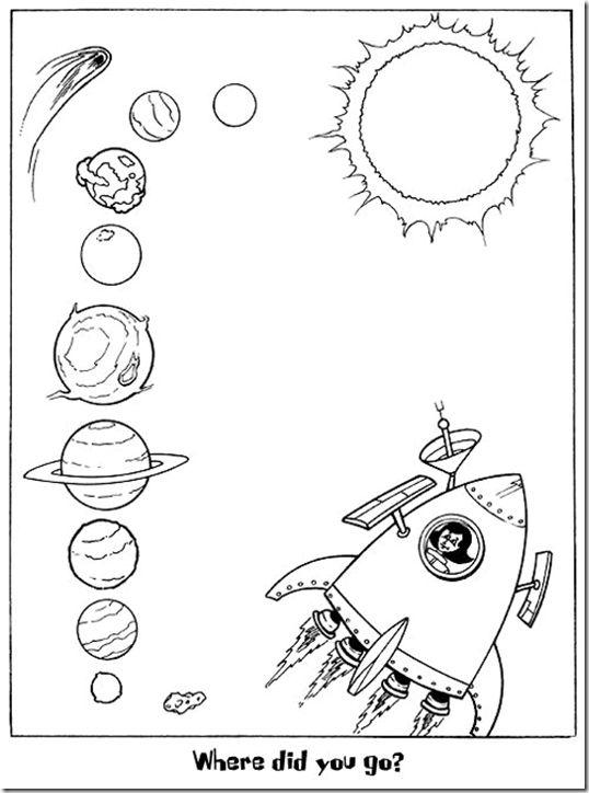 pinto dibujos sistema solar para colorear graficos pinterest