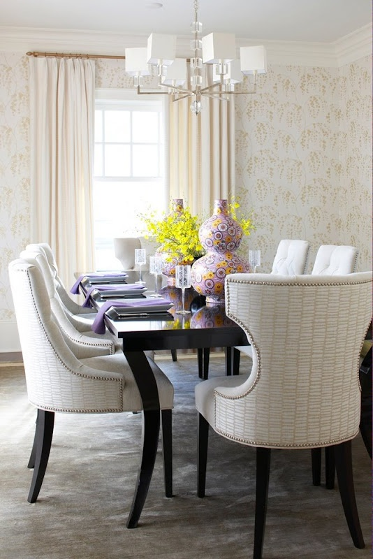 Upholstered Dining Room Chairs Give The A Mid Century Modern Clean Look