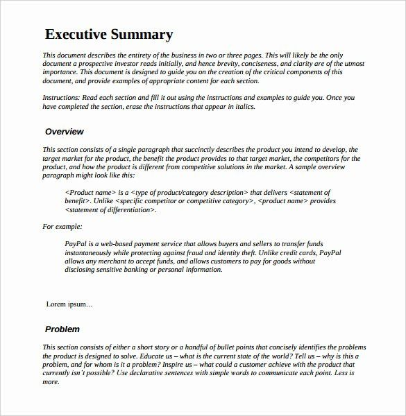 40 Executive Summary Sample For Proposal In 2020 Executive