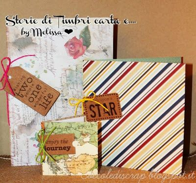 "Storie di timbri, carta e...: How To Make Notebook  ""Enjoy The Journey"""