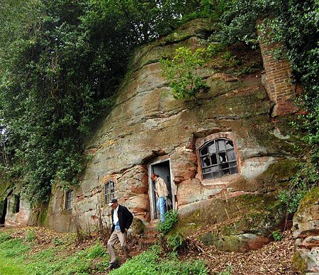 Rock Cottage - the home in hills outside Wolverley, Worcestershire, is one of 50 'built' in the area in the late 18th century.    Read more: http://www.metro.co.uk/news/55375-stone-me-its-a-flintstones-style-cottage#ixzz27MpSJfxg