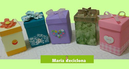 ** Maria Reciclona **: Caixinhas, caixinhas, caixinhas... Vamos reciclar tetra pak?