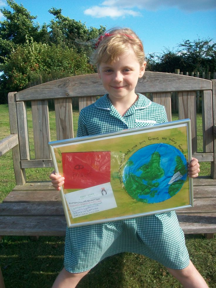 Maisy with her winning entry to our Eco-traveller competition!