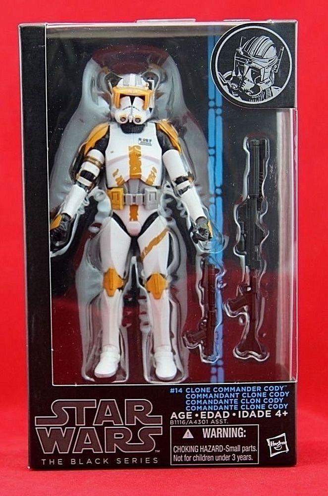 "Clone Commander Cody Star Wars The Black Series Hasbro 6"" Action Figure W2 #14 #Hasbro"
