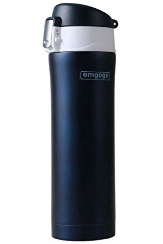 Omgogo Insulated Travel Mug  Coffee Mugs  Thermos  Stainless Steel Lid Lock Prevents Leaks 16oz Blue -- Want additional info? Click on the image.