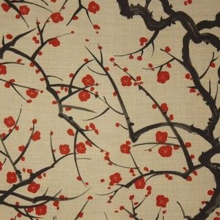 Clarence House Flowering Quince Wallpaper - traditional - wallpaper - by holdenandjames.com