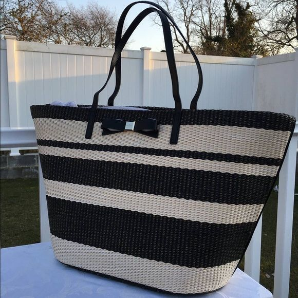 "Kate Spade Striped Tote 13"" x 14"" x 8"" BRAND NEW WITH TAGS kate spade Bags Totes"