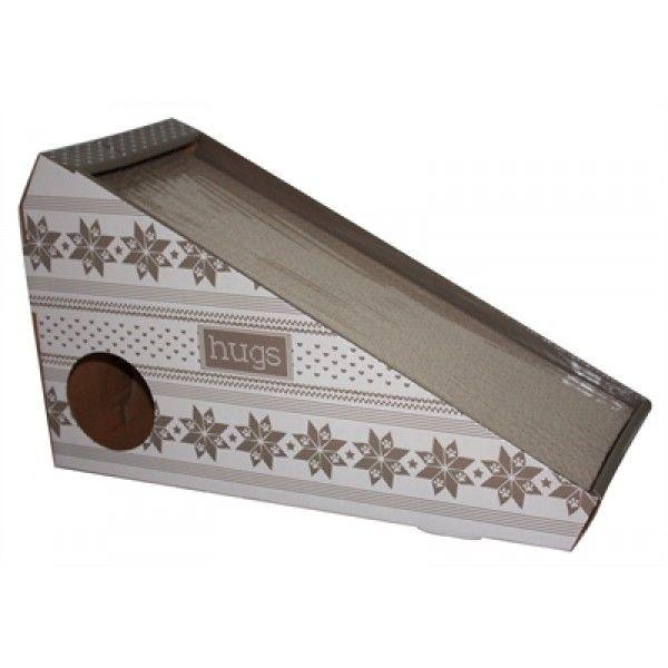 Een leuke kartonnen krabplank speciaal ontworpen voor jouw kat! De nagels blijven met deze plank goed in conditie en het interieur wordt bespaard. De plank heeft een onweerstaanbare aantrekkingskracht door de toevoeging van catnip. Door deze kattenkruid blijft jouw kat de krabplank opzoeken.