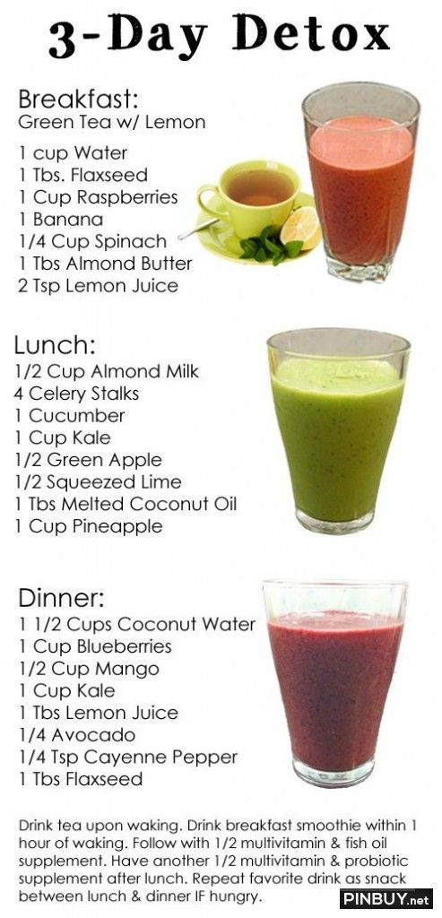 Dr. Oz's 3-Day Detox Cleanse. - Fashion for Women and Men
