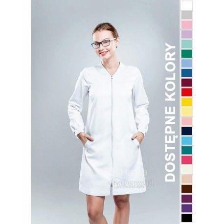 Dobrej jakości i wygodna odzież medyczna, to niezawodny atrybut każdego lekarza, pielęgniarki, czy farmaceutki. | Fartuch medyczny damski Hansa 0041. |